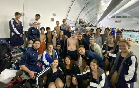 Juan Diego's swim team shortly after competing in their meet.