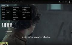Screenshot of all the genres Netflix offers.