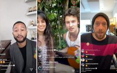 Artists such as John Legend, Shawn Mendes & Camila Cabello, and Chris Martin performed live concerts on Instagram.