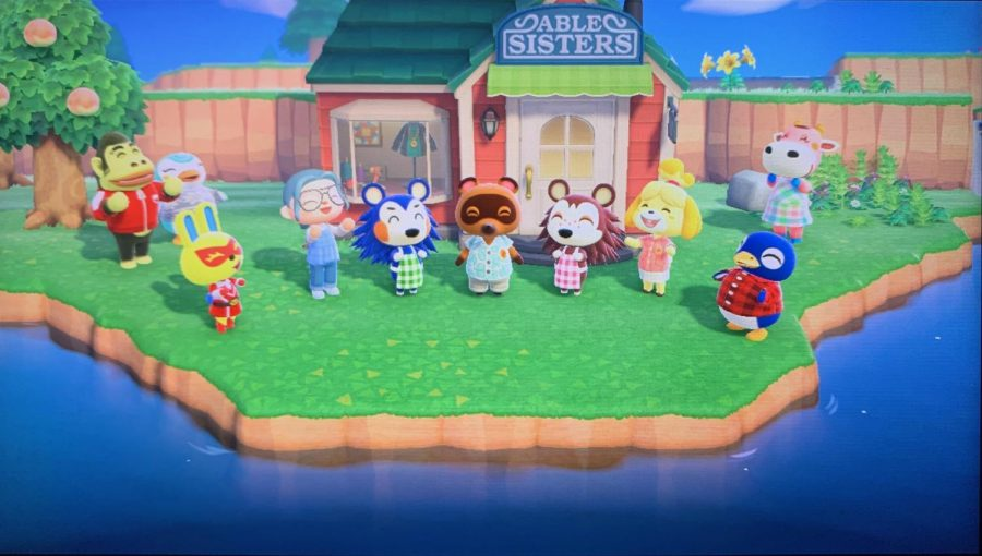 This is a celebration in Animal Crossing when you get a new achievement.