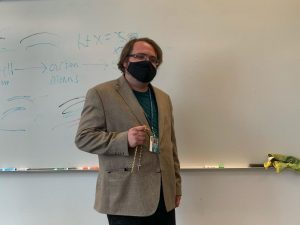 Sam McConnell teaching his Capstone Theology course.
