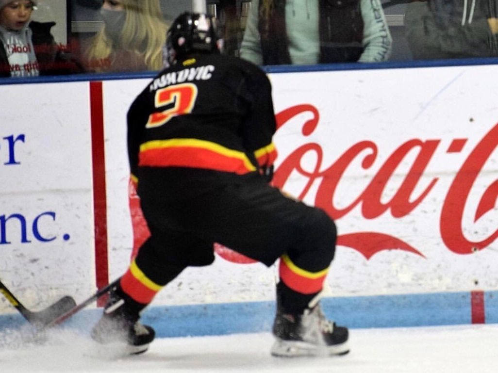 Victor Nukovic glides across the rink during a game with the Gillette Wild.