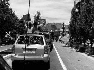 Downtown Salt Lake during the BLM Protests