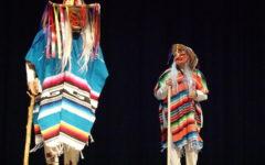El Baile de los Viejitos being presented at the cultural assembly