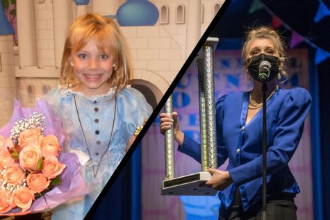 Senior Grace Sims performing at ages 7 and 17.